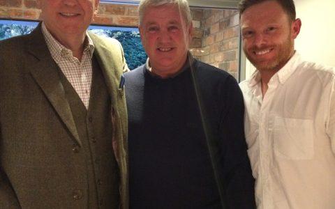 Aston Villa manager  - Steve Bruce and  Ian Bell - Warwickshire England batsman