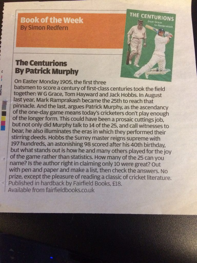 Book review by Simon Redfern published in The Independent 2009