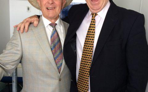 Pat with Geoffrey Boycott