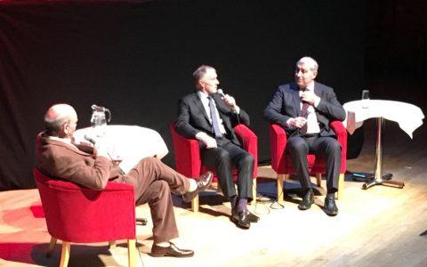 Sir Geoff Hurst and Peter Shilton