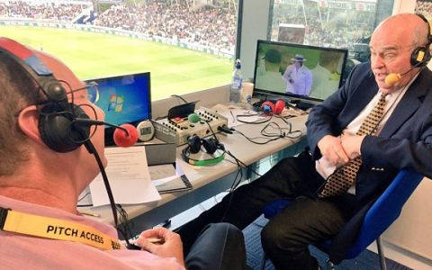 Commentating at Test Match Special