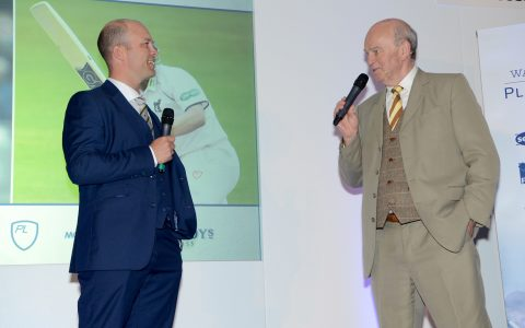 Jonathan Trott while hosting Warwickshire's Awards Dinner at the Edgbaston Stadium