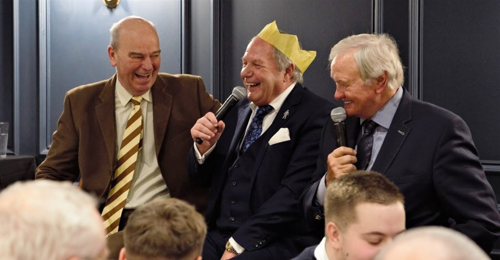 Hosting a Christmas lunch in the City of London with football legends Barry Fry and Ron Atkinson