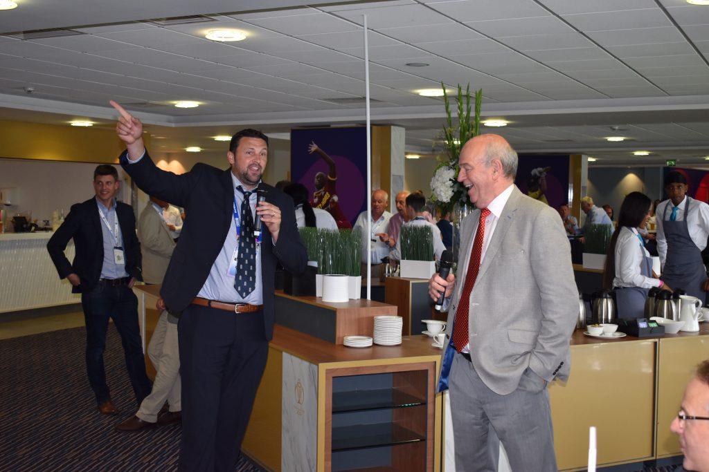 With Steve Harmison at the Edgbaston Test v Australia