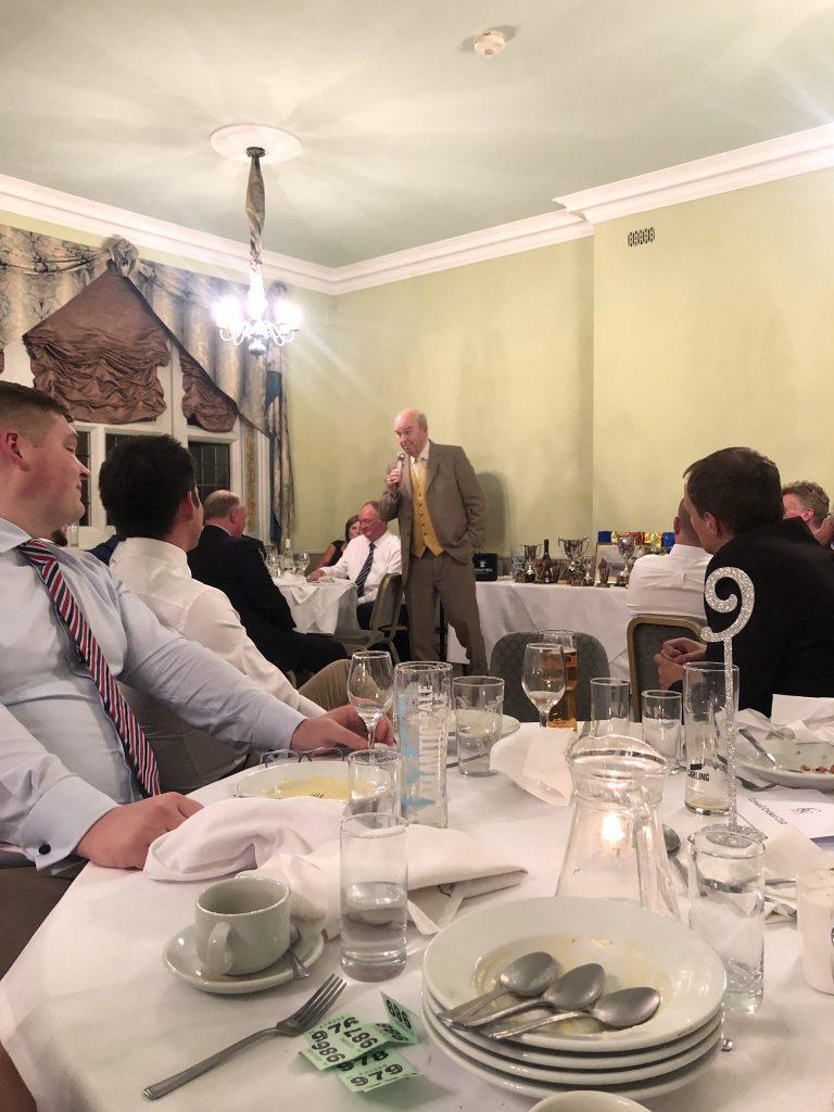Speaking at Colwall Cricket Club, near Malvern